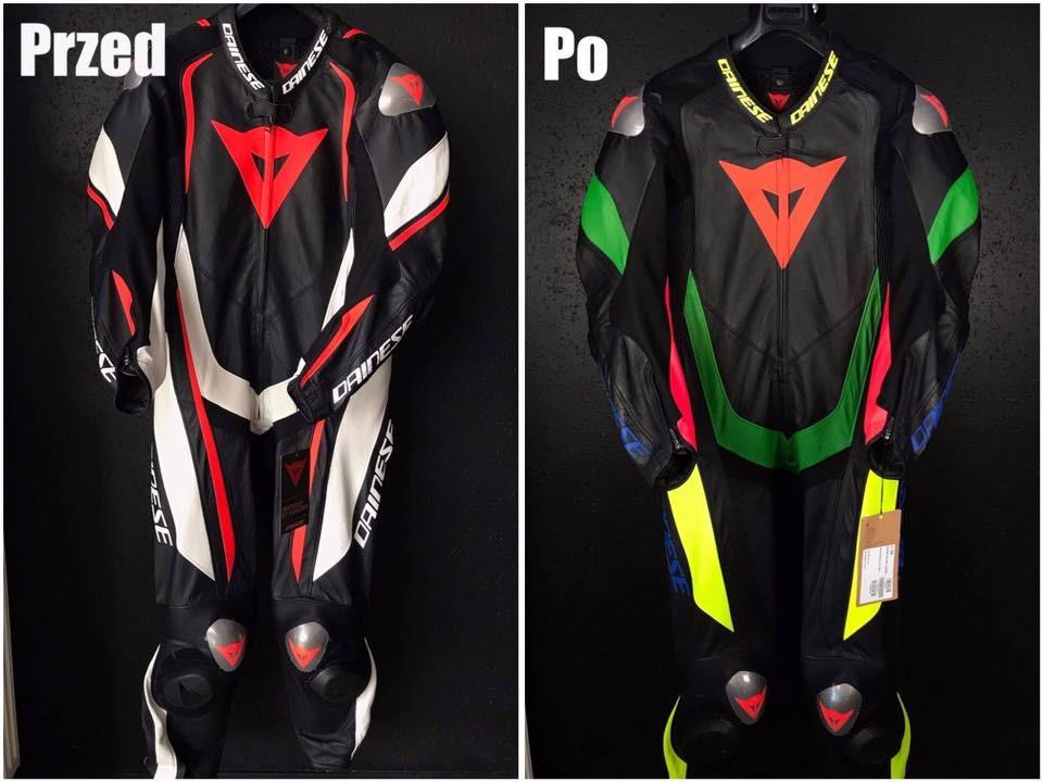 personalizacja kombinezonu motocyklowego