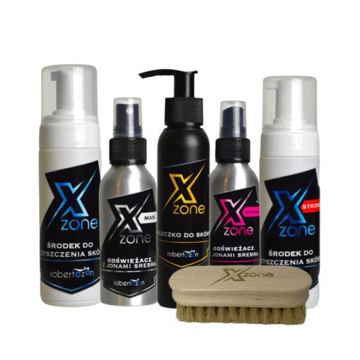 Zestaw do czyszczenia oraz konserwacji odzieży skórzanej Xzone - szczotka GRATIS