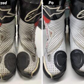 Czyszczenie obuwia motocyklowego