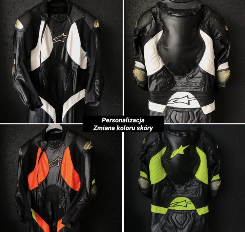 Zmiana koloru kombinezonu motocyklowego
